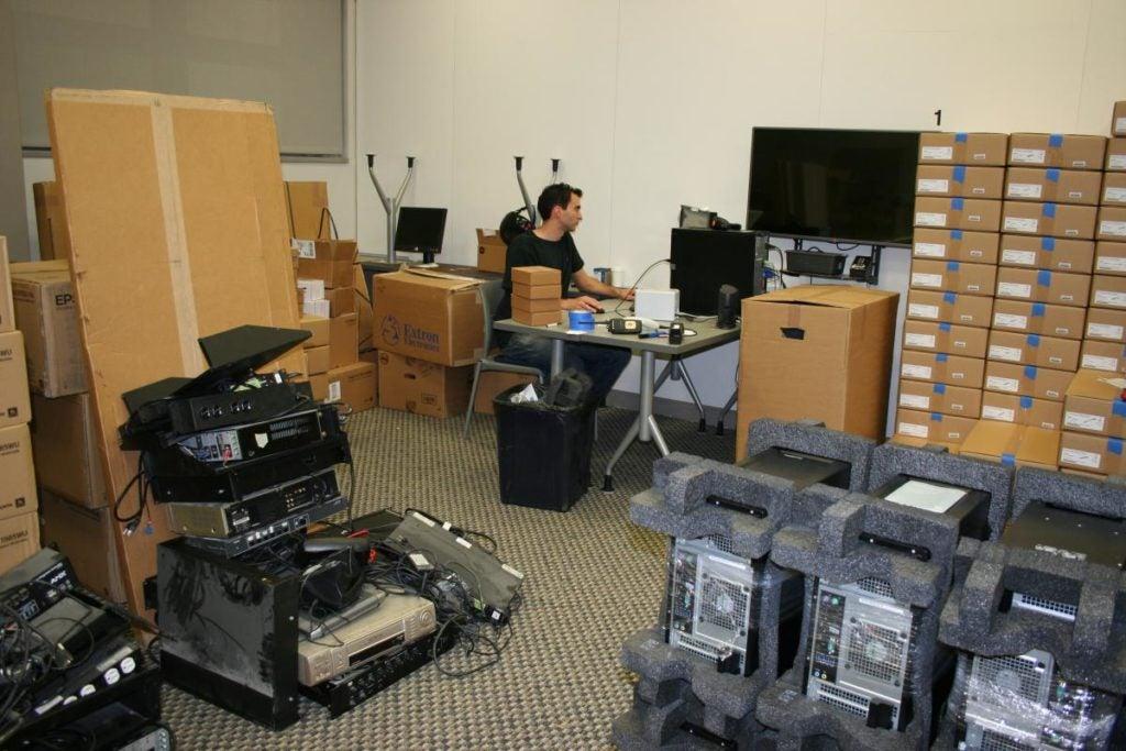 CETS Staff inventories new equipment