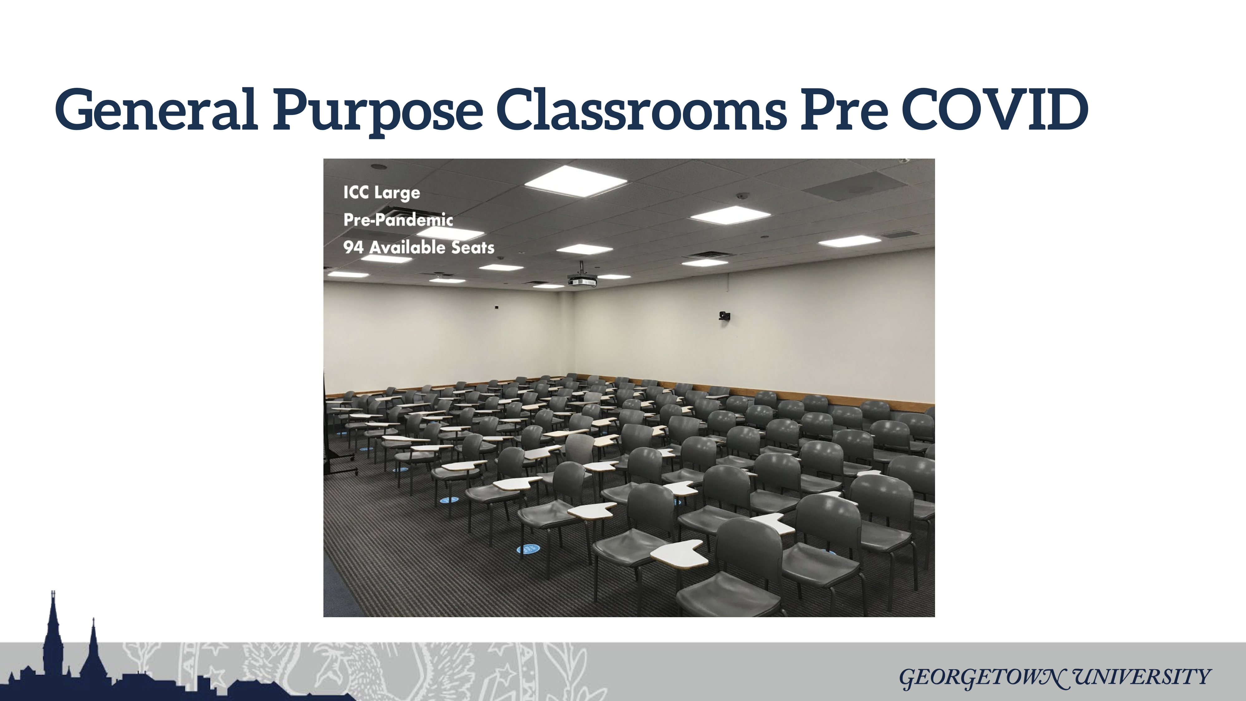 Picture of Large Classroom with Pre-pandemic Spacing