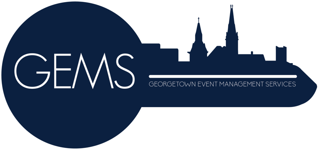 GEMS: Georgetown Event Management Services. Link to their website.